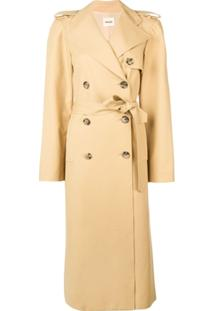 Khaite Trench Coat Longo - Neutro