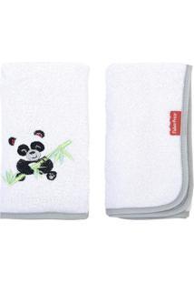 Jogo De Toalhas De Boca Colors Panda - Branco & Cinza