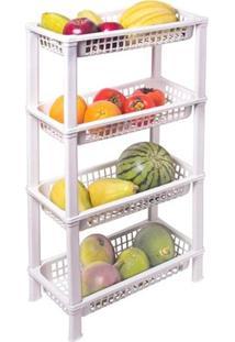 Fruteira De Chão Organizador De Cozinha De Plástico Multiuso Fr-05