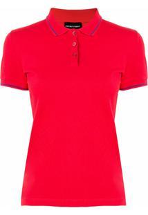 Emporio Armani Camisa Polo - Vermelho