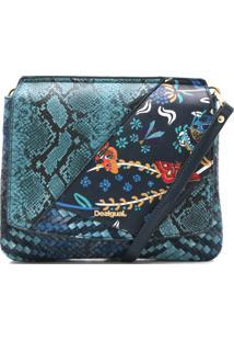 Bolsa Tiracolo Desigual Mix Cobra Verde/Azul