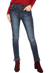Calça Jeans Animale Skinny Basic Spring Azul-Marinho