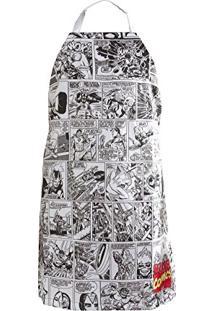 Avental Marvel Comics 75X60Cm Preto/Branco