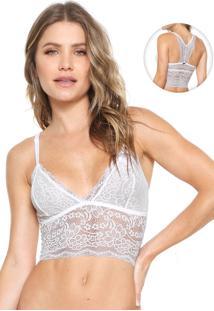 Sutiã Calvin Klein Underwear Triângulo Renda Branco
