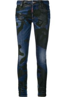 Dsquared2 Calça Jeans Camuflada - Azul
