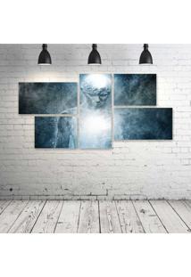 Quadro Decorativo - Ghost-Boy-Man-Psychedelic-Dark - Composto De 5 Quadros - Multicolorido - Dafiti