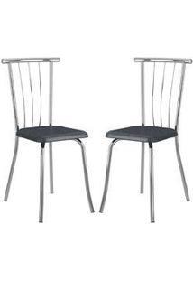 Cadeira 154 Cromada 02 Unidades Jeans Carraro
