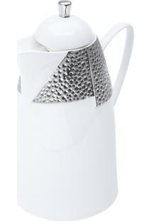 Garrafa Térmica De Porcelana Com Ampola De Vidro Martelo 21X14,5X27Cm 650Ml - Unissex