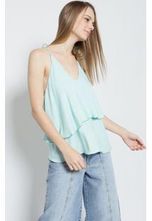 Blusa Lisa- Verde Água- Colccicolcci