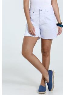 Bermuda Feminina Em Jeans Desfiado Marisa
