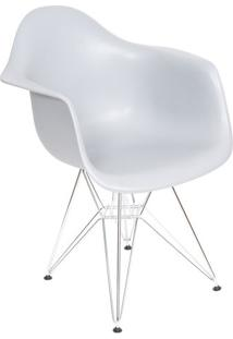 Poltrona Eames Dar- Cinza & Prateada- 82X63X44Cmor Design