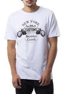 Camiseta Ukkan New York Customs Branco