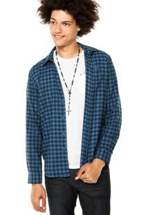Camisa Ellus 2Nd Floor Christian New Classic French Azul