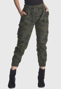Calça Jeans Hno Jeans Jogger Camuflado - Feminino