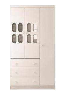 Armário Rodial Mimo Com 3 Portas E 3 Gavetas - Branco