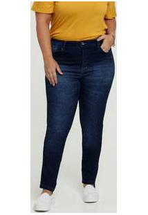Calça Skinny Feminina Bolsos Plus Size Uber Jeans