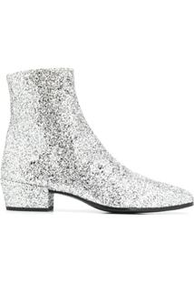 Saint Laurent Ankle Boot Com Brilho - 8105