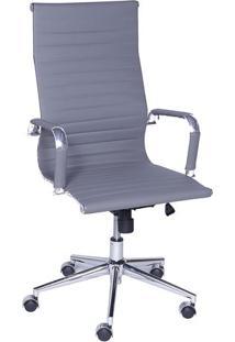 Cadeira Office Eames Esteirinha- Cinza- 114X61X46,5Cor Design