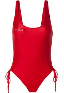 Body Rosa Chá Giovanna Red Beachwear Vermelho Feminino (Barbados Cherry, P)