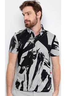 Camisa Polo Forum Estampada Masculina - Masculino