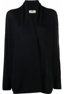 Sminfinity Cardigan Com Detalhe Nos Ombros - Azul