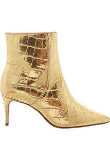 Bota Mid Heel Golden Croco | Schutz