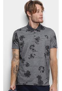 Camisa Polo Ellus Digital Flowers Masculina - Masculino