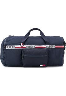 Tommy Hilfiger Logo Stripe Holdall - Azul