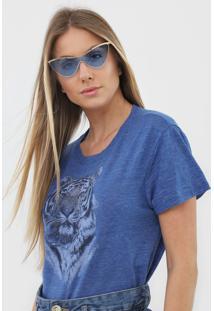 Blusa Malwee Tigre Azul - Kanui