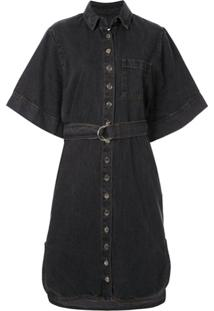 Ingorokva Vestido Jeans Aiva Com Cinto - Preto