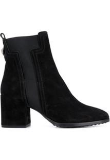 Tod'S Ankle Boot Clássica - Preto