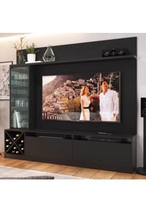 Rack Com Painel Para Tv Até 65 Polegadas 3 Portas 2020 Ptx Preto - Quiditá Móveis