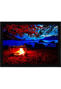 Capacho - Tapete Colours Creative Photo Decor - Fogueira Na Praia Em Ilhabela, Sp Azul