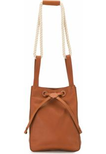 Rodo Drawstring Bucket Bag - Marrom