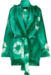 Alanui Cardigan Tie-Dye - Verde