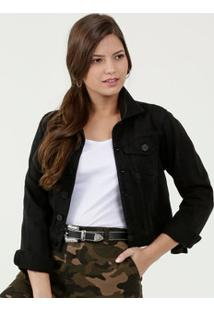 Jaqueta Feminina Sarja Botões Uber Jeans