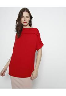 Blusa Assimã©Trica Lisa- Vermelha- Forumforum