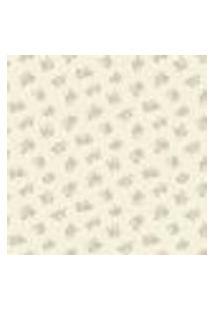 Papel De Parede Flowertime Ff202-39 Branco Vinílico Com Estampa Contendo Folhagem