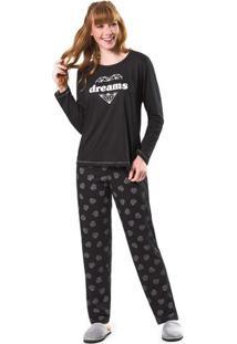 Pijama Feminino Adulto Sonhos De Diamante