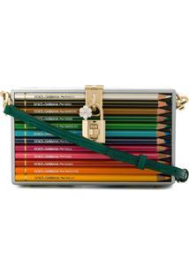 Dolce & Gabbana Clutch 'Pencil Box' Em Madeira E Couro - Verde