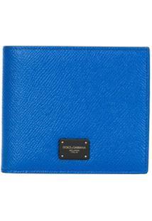 Dolce & Gabbana Carteira Dobrável Com Logo - Azul