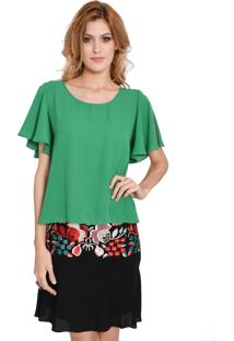 Blusa Elementais Esmeralda Verde