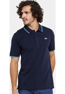 Camisa Polo Lacoste Bordada Masculina - Masculino