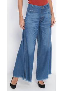 Jeans Pantalona Estonado - Azul- Lança Perfumelança Perfume