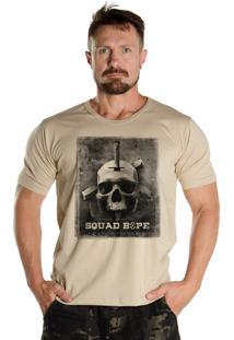 Camiseta Black Flag Bope Bege Areia