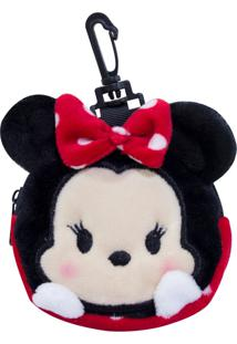 Porta Moeda Pelúcia Minnie Tsum Tsum - Disney - Kanui