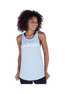 Camiseta Regata Adidas Essentials Linear Loos - Feminina - Azul Claro