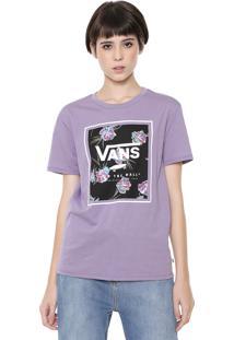 Camiseta Vans Boyfriend Wm Paradise Floral Lilás