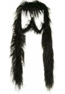 16Arlington Xale Com Plumas - Preto