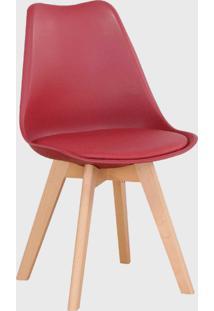Cadeira Leda Marsala Rivatti Vermelha